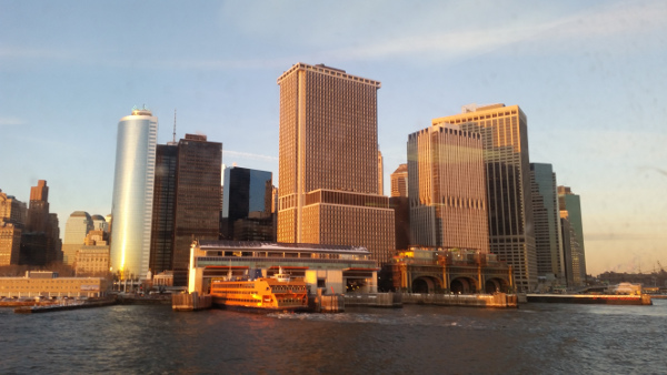 View of Downtown Manhattan (Battery) from Staten Island Ferry